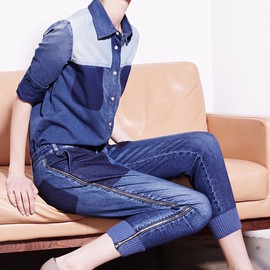 Stella McCartney - Stella McCartney Patchwork Chambray Shirt & Jeans