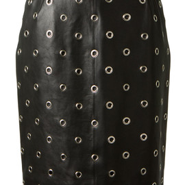 Azzedine Alaia - BLACK LEATHER SKIRT