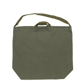 ENGINEERED GARMENTS - Carry-All Tote W/Strap-12oz Bull Denim-Olive