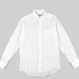 INDIVIDUALIZED SHIRTS - BD Shirts Standard Fit Linen-White