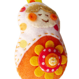 Luulla - Felt Christmas Ornament- Cheerful Matryoshka