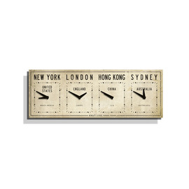 Newgate Clocks - Fleet Street Timezone Wall Clock