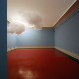 "Berndnaut Smilde - ""nimbus"" - floating cloud installation"