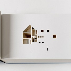 Ólafur Elíasson - くりぬいて作られた立体建築本 The Negative Space of a House