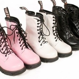 British Motorcycle Style Cool Candy Color Lace-up Boots