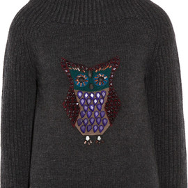 BURBERRY PRORSUM - Beaded wool and cashmere-blend sweater