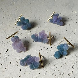 talkative - グレープカルセドニー ピアス Grape Calcedony Pierced Earring