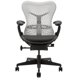 Herman Miller - Mirra Chairs Alpine - Ampad:Blac , Base rame:Graphite , AireWeave seat:Graphite Dark , Back:Alpine