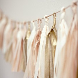 Blush Tassel Party Garland on Your Cloud Parade