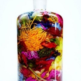 bottled flowers