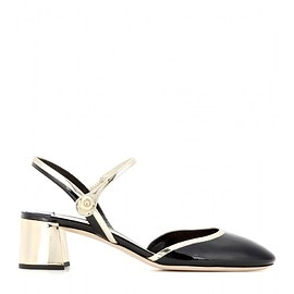 miu miu - Patent and metallic leather pumps