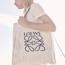 LOEWE - LOEWE Vertical Fringe Leather Tote Bag