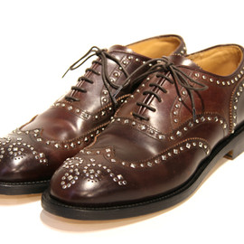 Needles - Studded Cordovan Shoe-Wing Tip