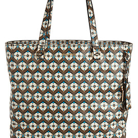 miu miu - Pre-Fall 2015 Floral-print textured-leather tote