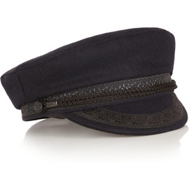 FINDS - Lock & Co Hatters embroidered wool-blend felt cap