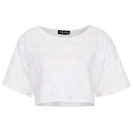TOPSHOP - White Pineapple Crop Tee
