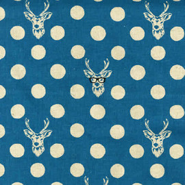 Buck in Blue - ECHINO Japanese Imported Fabric -