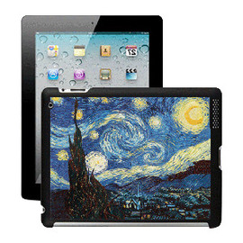 ohneed - Dynamic 3D Effect Ipad Case-Oil Painting Quiet Night