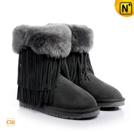 CWMALLS - Ladies Shearling Fringe Winter Boots CW314428