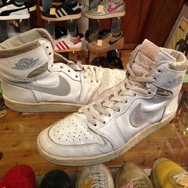 "NIKE - 「<used>80's NIKE AIR JORDAN 1white/natural""made in KOREA"" size:US11(29cm) 18800yen」完売"