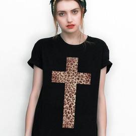 White Inverted Cross 'Chanel' Tee