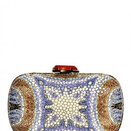 Etro - MANISHA MOSAIC PRINTED LEATHER CLUTCH
