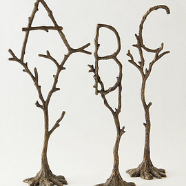 Anthropologie - tree monogram