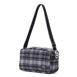 """HEAD PORTER - """"LESSON"""" 2WAY POUCH GREY"""