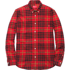 Supreme - Tartan Flannel Shirt - Red