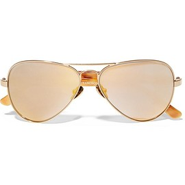 Westward Leaning - Concorde 10 aviator-style acetate and gold-tone sunglasses