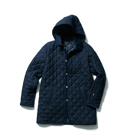SOPHNET. - WOOL MELANGE QUILTING HOODED COAT