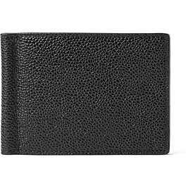 Thom Browne - Pebble-Grain Leather Wallet with Money Clip