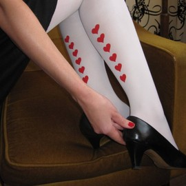 YesNatalie - Prints Charming tights by Yes Natalie - Queen of Hearts