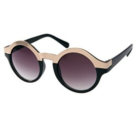 asos - Metal Top Keyhole Round Sunglasses