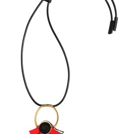 MARNI - LEATHER FLOWER PENDANT NECKLACE