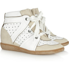 Isabel Marant - Betty leather and suede sneakers