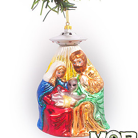 Middle of beyond - Alien Nativity Glass Ornament
