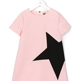 Msgm Kids - star print T-shirt dress
