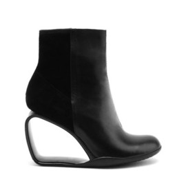 UNITED NUDE - Step Möbius Bootie Hi Black Nappa + Stretch Suede