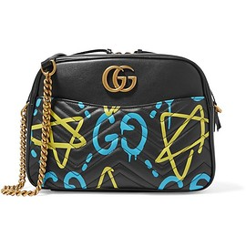Gucci - GucciGhost printed leather shoulder bag