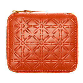 COMME des GARCONS - Leather Embossed Zip Wallet (Orange SA210ECA)