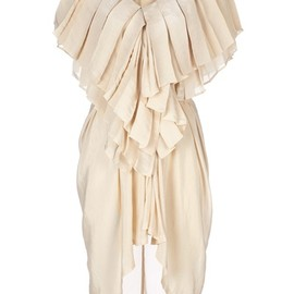 ANN DEMEULEMEESTER - pleated ruffle dress
