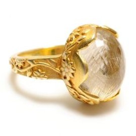 Katie Diamond Delilah ring - rutilated quartz and 18k gold