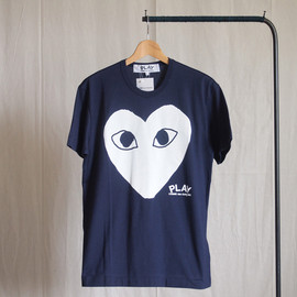 PLAY COMME des GARCONS - 綿天竺プリント T-Shirt #navy