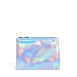 asos - Small Zip Top Clutch In Hologram