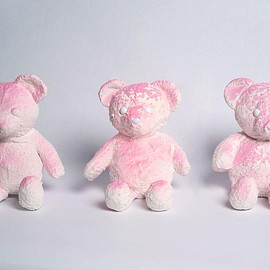Daniel Arsham - Pink 'Cracked Bear'
