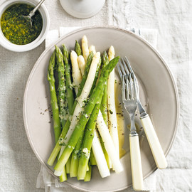 donna hay - asparagus with tarragon butter