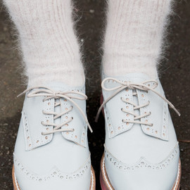 THE WHITEPEPPER - Leather Platform Brogues