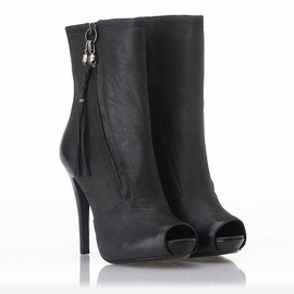 ASH - Great Boot Black Distressed Leather