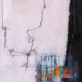 Anne-Laure Djaballah - plans: in stages, 2007, mixed media on canvas